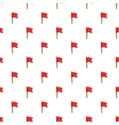 Football flag pattern cartoon style vector