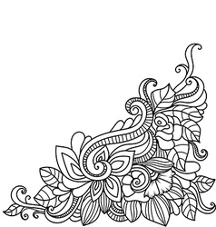 Hand-drawn decorative floral element vector image