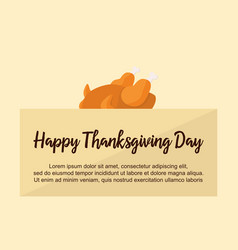 Happy thanksgiving card collection stock vector