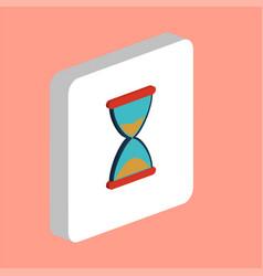 hourglass computer symbol vector image