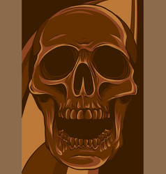 Human skull in colored vector