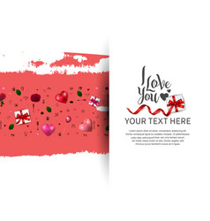 I love you concept with love element and gift box vector
