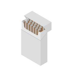 isometric cigarette pack vector image