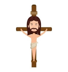 Jesus christ man cartoon vector