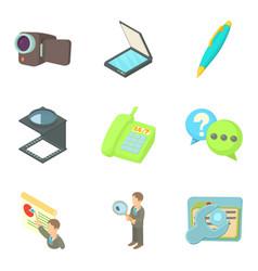 Job site icons set cartoon style vector