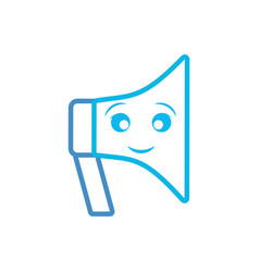 kawaii megaphone icon vector image