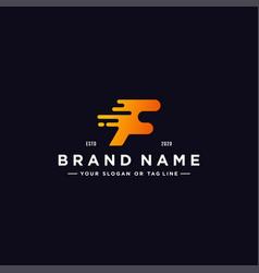 Letter f colorful logo design vector