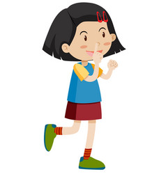 little girl pointing up vector image