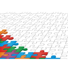 Many-colored puzzle pattern vector image