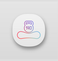 Maximum weight limit up to 140 kg app icon vector