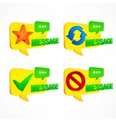 Message speech set vector image vector image