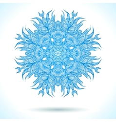 Modern mandala or snowflake design vector image
