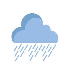 Natural cloud in the sky raining weather vector