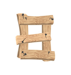 Number 8 wood board font eight symbol plank and vector