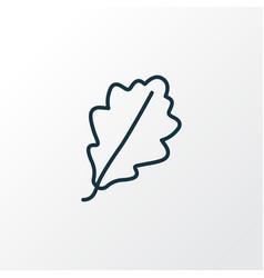 oak leaf icon line symbol premium quality vector image