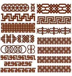 Ornate borders set vector image