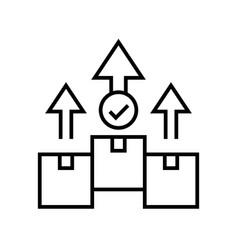 parcel line icon concept sign outline vector image