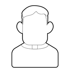 Priest icon outline style vector image