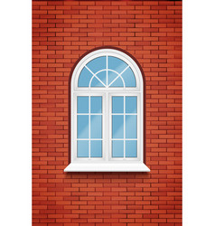 Pvc arch window vector