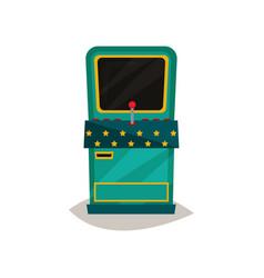 retro arcade game machine on a vector image