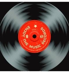 Retro vinyl record poster vector image