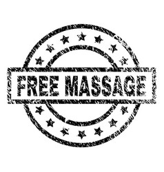 Scratched textured free massage stamp seal vector