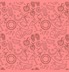 seamless summer pattern with beach elements vector image