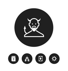Set of 5 editable faith icons includes symbols vector