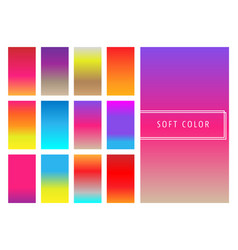 Set of soft colorful gradients background vector