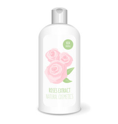 shampoo bottle white vector image