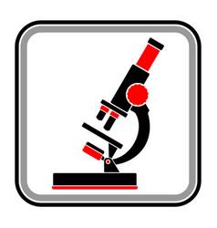 Silhouette a microscope vector