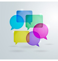 Social Network Speech Bubbles vector image
