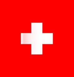Swiss national flag vector