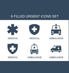 Urgent icons vector