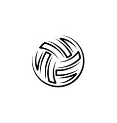 volleyball ball black icon logo vector image