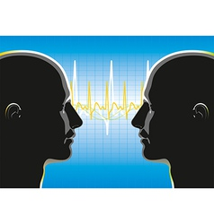 Communication Relationship vector image vector image