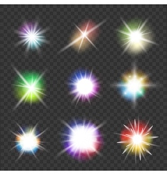 flashes with color lights vector image