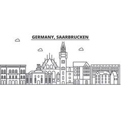 germany saarbrucken architecture line skyline vector image vector image
