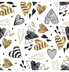 Golden seamless pattern with the image of tribal vector image vector image