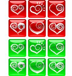 love heart icons vector image