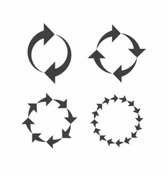 rotation reload refresh circle cycle arrow signs vector image vector image