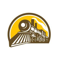 steam locomotive train icon vector image vector image