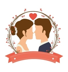 just married couple card vector image