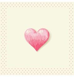Valentine sketch heart invitation postcard vector image vector image