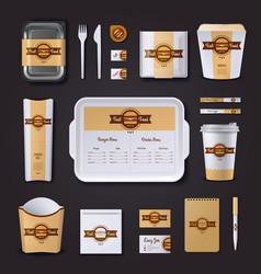 Fastfood Restaurant Corporate Design vector image vector image
