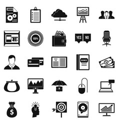 server icons set simple style vector image vector image