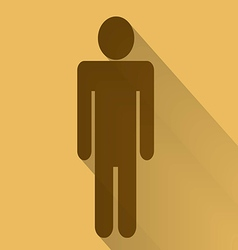 Sign of men flat long shadow vector image