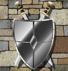 Swords on the wall vector