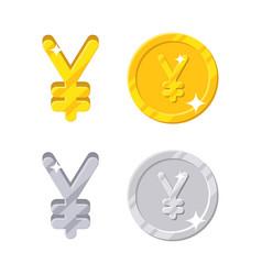 yen yuan sign vector image