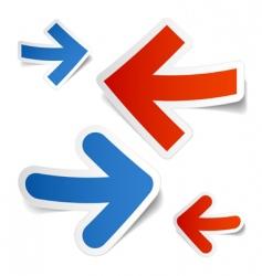 arrows stickers vector image
